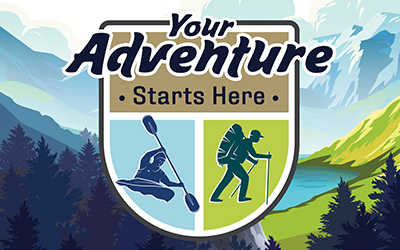 Your adventure starts here logo